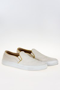 L'Autre Chose Ivory Pony Hair Slip-Ons / Size: 38 - Fit: True to Size