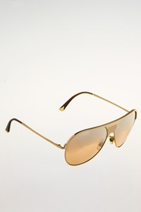 Dolce & Gabbana DG 2090 02/3D Gold Metallic Aviator Sunglasses