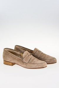 Salamander Beige Suede Loafers / Size: 39 - Fit: True to Size
