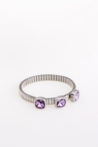 Nomination Italy Extension Collection Steel Bracelet with Purple Crystals