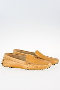 Tod's Gold Metallic Loafers / Size: 39.5 - Fit: True to Size