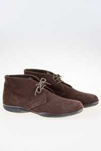 Prada Sport Men's Brown Suede Laced Chukka Boots / Size: 42