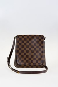 Louis Vuitton Damier Ebene Canvas Musette Salsa Messenger Bag