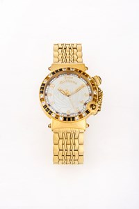 John Galliano L'Elu Gold-Plated Watch with Gemstones