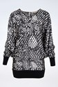 Stella McCartney Black and White  Printed Blouse Dress / Size: 40 IT - Fit: S