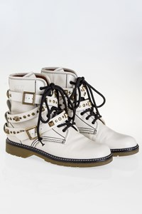 See by Chloé Ecru Ankle Boots / Size: 38.5 - Fit: True to Size