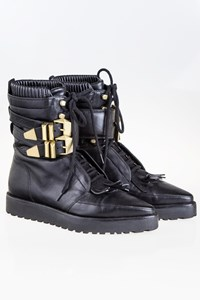 Alexander Wang Jamie Creeper Black Ankle Boots / Size: 38 - Fit: 38.5