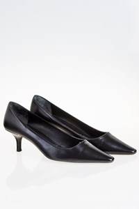 Prada Black Leather Pointed Pumps / Size: 38.5 - Fit: 39