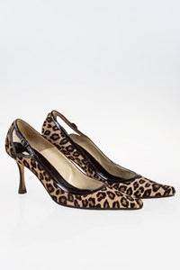 Brian Atwood Leopard Pony Skin Pumps / Size: 38.5- Fit: 39