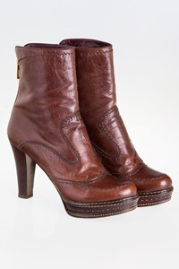 Prada Brown Ankle Boots / Size: 39.5 - Fit: True to Size
