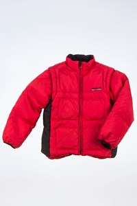 Polo Ralph Lauren Red-Blue Puffer Jacket with Removable Sleeves / Size: 7