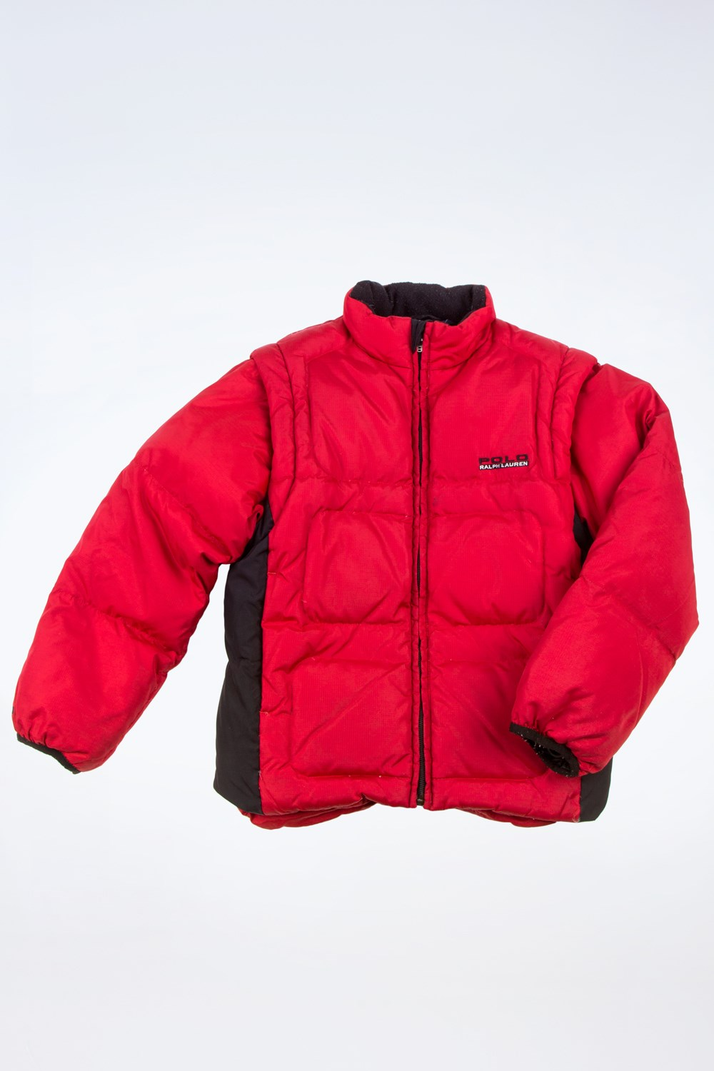 a0e1eec5321f Red-Blue Puffer Jacket with Removable Sleeves   Size  7