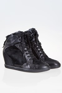 Hogan Rebel Black High Heeled Sneakers / Size: 41 - Fit: True to size