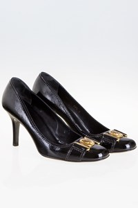 Gucci Black Hysteria Patent Leather Pumps / Size: 39.5 C - Fit: True to size