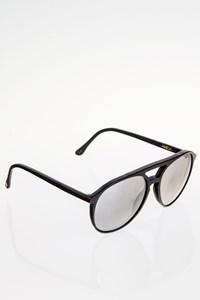 Wildfox Amelia Black Acetate Aviator Sunglasses