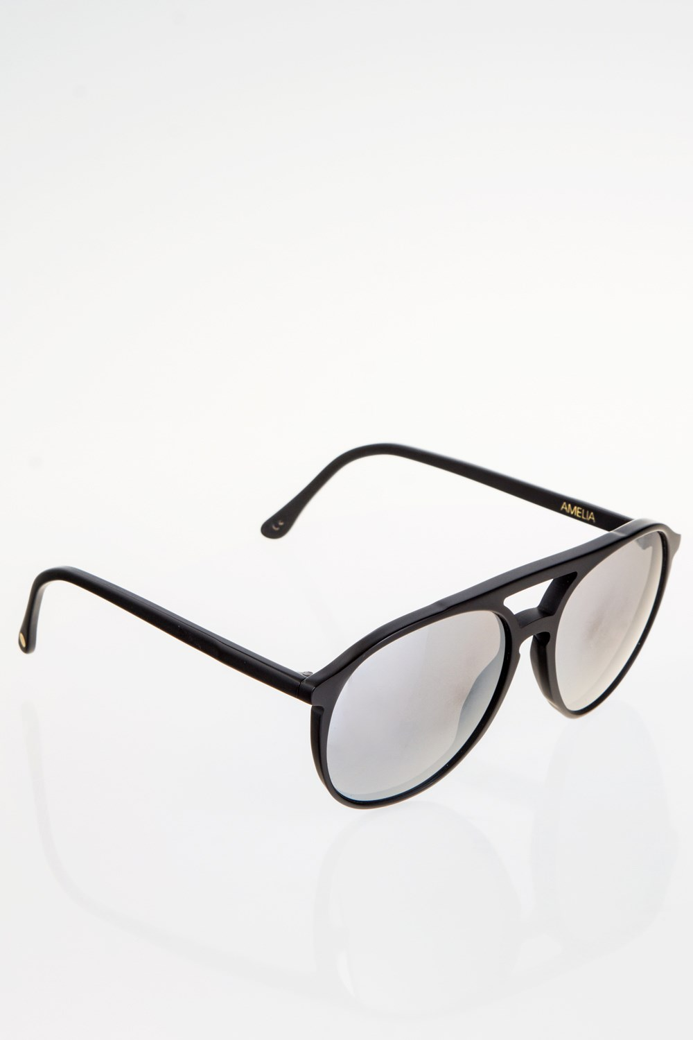 d6a22c39474 Amelia Black Acetate Aviator Sunglasses