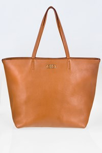 Salvatore Ferragamo Bice Tan Leather Tote Bag