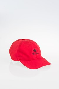Loro Piana Red Hat with Logo
