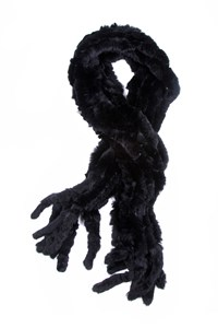 No Brand Black Rabbit Fur Stole