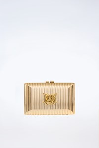 Love Moschino Gold Clutch with Chain