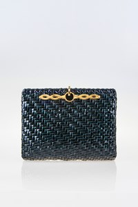 Rodo Vintage Forest Green Straw Clutch