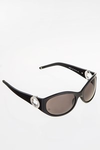 Montblanc MB91S Black Acetate Sunglasses with Silver Logo