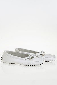 Tod's White Leather Moccasins / Size: 37.5 - Fit: 38