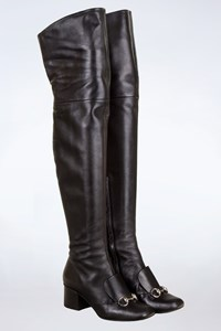 Gucci Lillian Black Over-the-Knee Boots / Size: 37 - Fit: True to size
