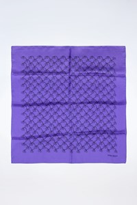 Marina Rinaldi Blue-Purple Scarf with Logo-Print