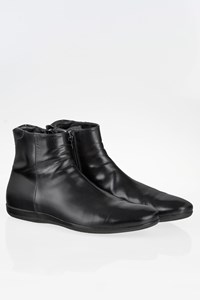 Prada Sport Black Leather Men's Boots / Size: 41 - Fit: True to size