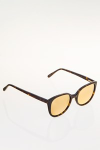 Prism Tortoise Shell Acetate Mirrored Sunglasses