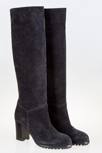 L'Autre Chose Black Suede Leather Boots / Size: 39 - Fit: 38.5
