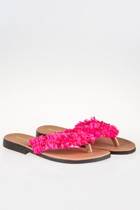 Marietta Leather Sandals with Bows and Beads / Size: 39 - Fit: 38.5