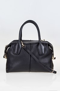 Tod's D-Styling Bauletto Zip Piccolo Black Tote bag