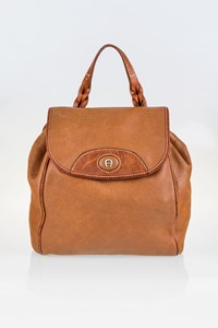 Aigner Tan Leather Backpack