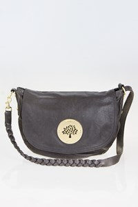 Mulberry Daria Αnthracite Leather Cross Body Bag