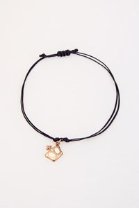 Very Gavello King Rose Gold Pendant with Black Cord Bracelet