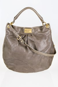 Marc By Marc Jacobs Hillier Classic Q Elephant Grey Huge Hobo Bag