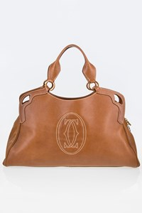 Cartier Marcello de Cartier Tan Leather Tote Bag
