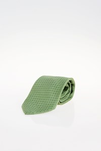 Hermès Green Silk Tie with H Print