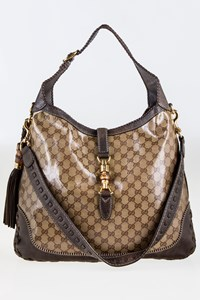Gucci New Jackie GG Coated Canvas and Leather Large Hobo Bag