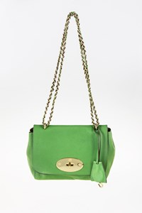 Mulberry Lily Grass Green Classic Grain Leather Bag with Chain Strap