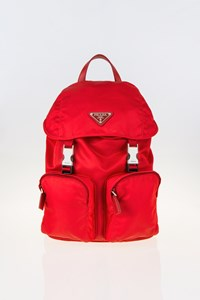 Prada Red Nylon Mini Backpack