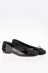 Tod's Drew Black Patent Leather Ballerinas / Size: 38 - Fit: 38.5