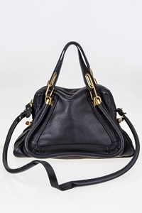 Chloé Paraty Black Leather Medium Tote Bag