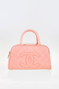 Chanel Boston Pink Quilted Leather Mini Tote Bag