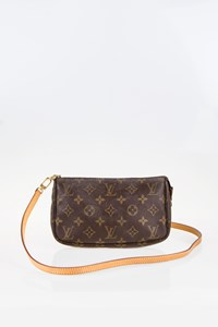 Louis Vuitton Monogram Canvas Pochette Accessoires with Extra Shoulder Strap VVN