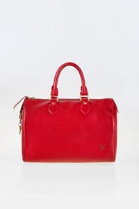 Louis Vuitton Carmine Epi Speedy 25 Tote Bag