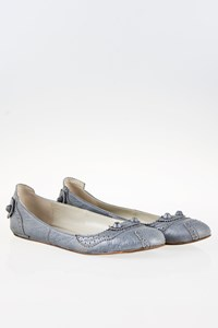 Balenciaga Arena Brogue Grey Ballerinas / Size: 40 - Fit: True to size