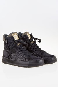 Replay Black High-Top Sneakers with Shiny Details / Size: 40 - Fit: 41